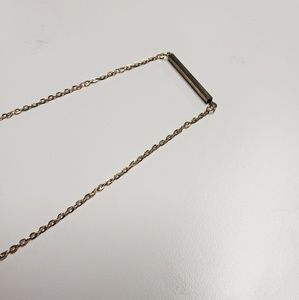 Gold toned metal bar necklace NEW